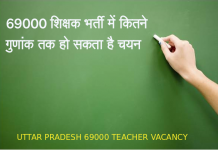 UTTAR PRADESH 69000 TEACHER VACANCY