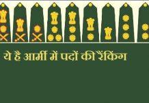 ये है आर्मी में पदों की रैंकिंग - Indian-Army-Ranks-Insignia
