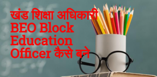 खंड शिक्षा अधिकारी कैसे बने - Block Education Officer (BEO) कैसे बने