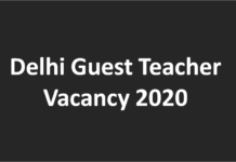 Delhi Guest Teacher Vacancy 2020 TGT PGT teacher