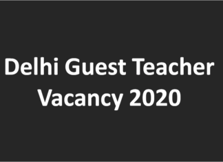 Delhi Guest Teacher Vacancy 2020 TGT PGT teacher