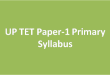 UP TET Paper-1 Primary Syllabus