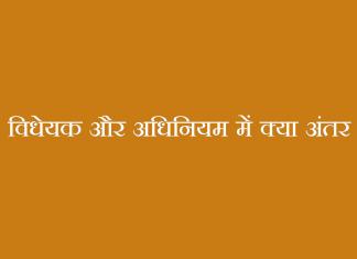 विधेयक और अधिनियम में क्या अंतर - Bill and Act Differences in Hindi