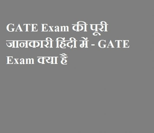 GATE Exam की पूरी जानकारी हिंदी में - GATE Exam क्या है