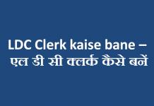 LDC Clerk kaise bane - एल डी सी क्लर्क कैसे बनें
